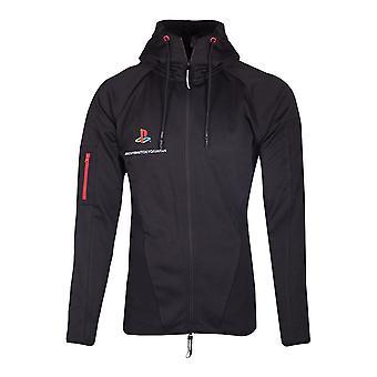 Sony PlayStation Tech19 full längd blixtlås hoodie hane X-stor svart