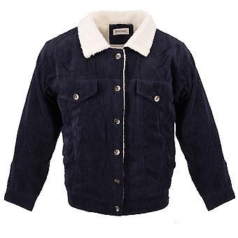 Frauen's Corduroy Jacke Sherpa Jeans Blouson Velour Futter Teddy Fleece Pelz Weste