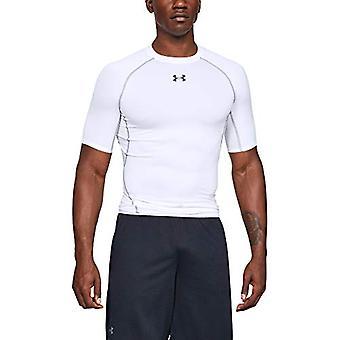Under Armour Men's HeatGear Armour Short Sleeve, White (100)/Graphite, Size 3.0