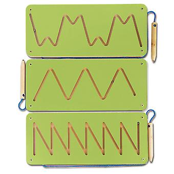 Magnetic Patterns 1 Set of 3 Green Sensory Development Magnet Educational