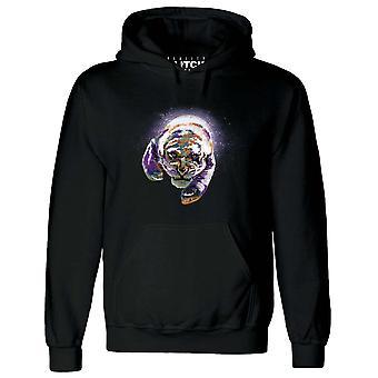 Réalité glitch espace tigre homme hoodie