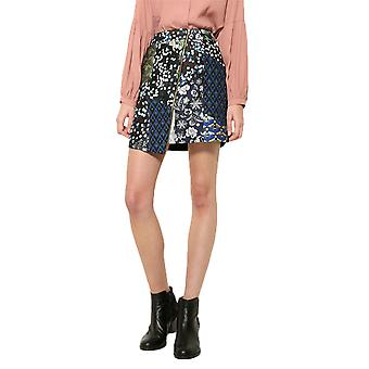 Desigual Women's Multicoloured Patchwork Georgina Skirt