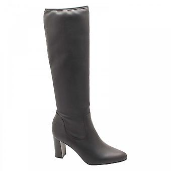 Peter Kaiser Litasia Stretch Black Leather Calf Height Boots