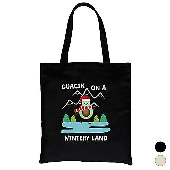 Gaucin Wintery Land Funny Christmas Canvas Bag Gift Idea