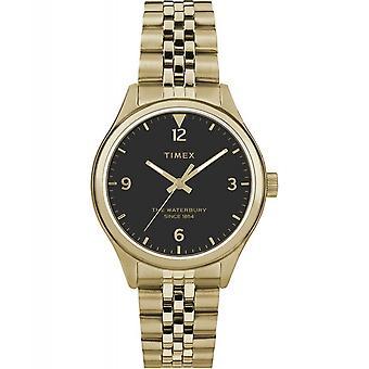 Timex TW2R69300 Waterbury Tradycyjny złoty zegarek na rękę Czarny