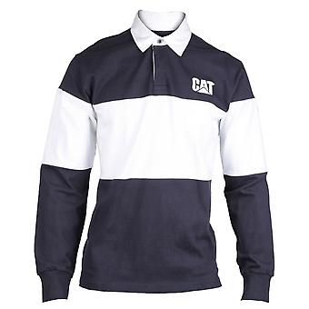 Caterpillar Mens C1620530 Rugby Shirt Navy