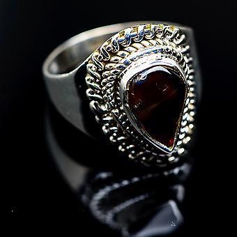 Mexican Fire Agate Ring Size 7 (925 Sterling Silver)  - Handmade Boho Vintage Jewelry RING987069