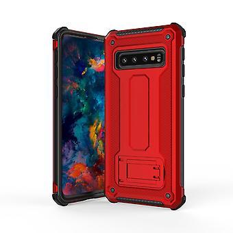 لسامسونج غالاكسي S10 القضية، الأحمر فائقة رقيقة صدمة PC + TPU درع الغطاء الخلفي