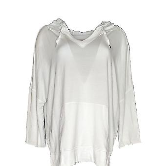 Belle by Kim Gravel Women's Top Lovabelle Lounge Hooded White A351607