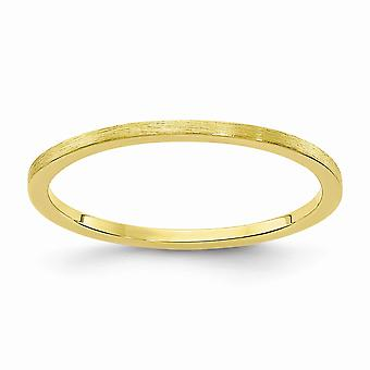 10ky 1.2mm Flat Satin Stackable Band Ring Jewelry Gifts for Women - Ring Size: 4 to 10