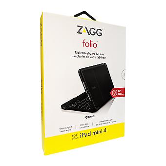 Zagg Folio Keyboard Case for Apple iPad Mini 4 - Black