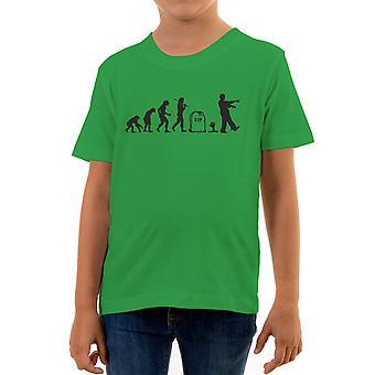 Reality glitch evolution of zombies kids t-shirt