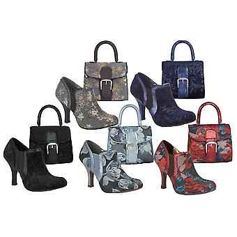 Ruby Shoo Femmes-apos;s Juno High Heel Shoe Boots et Matching Riva Bag
