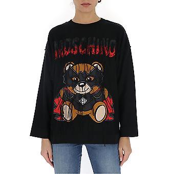 Moschino 09270502v2555 Women's Black Cotton Sweatshirt
