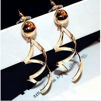 Geschroefde unieke oorbellen in goud