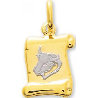 M�daille taureau or bicolore