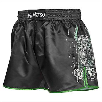 Fumetsu rampage muay thai shorts black/green