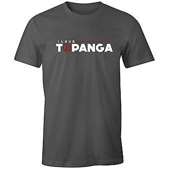 Boys Crew Neck Tee Short Sleeve Men's T Shirt- I Love Topanga
