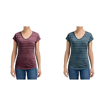 Anvil Womens/Ladies V-Neck Streak Tee