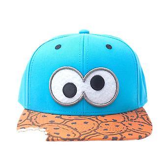 Sesame Street Cookie Monster Bite Snapback Cap