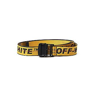 Off-white Omrb012s206470206000 Men's Yellow Nylon Belt