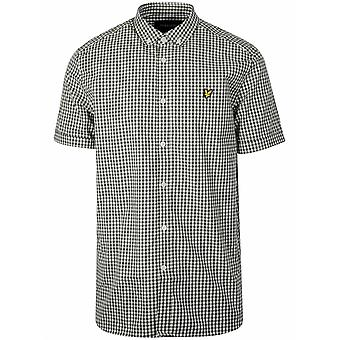 Lyle & Scott  Lyle & Scott Green & White Gingham Short Sleeve Shirt