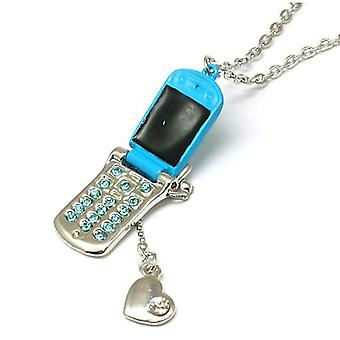 The Olivia Collection Blue Mobile Phone Pendant & Heart Charm 16