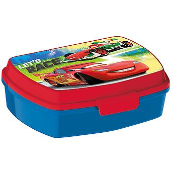 CARS Children's bread tin made of plastic blue red