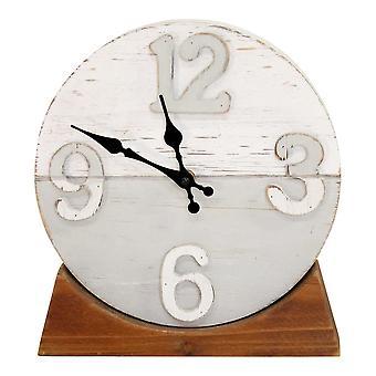 שעון שולחן עץ דו-טון לאורך החוף