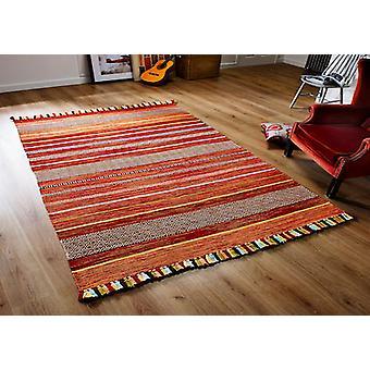 Kelim STRIPES Rectangle ROUGE tapis tapis modernes