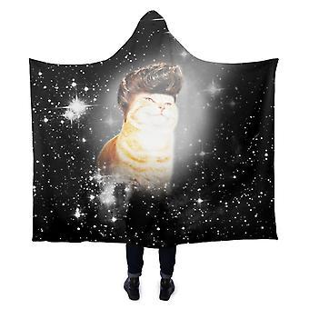 3D printing blanket Cat print 3D thickened hooded blanket
