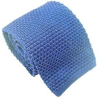 Eingewandt London Seide gestrickter Tie - himmelblau