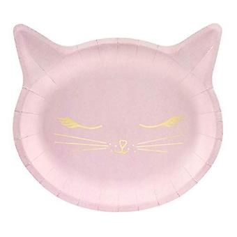 Pink Cat Kitten Paper Party Plates 22cm x 6