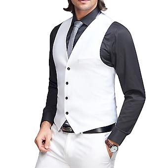 Allthemen Men's Suit Vest Thin V-Neck Slim Fit Business Casual Vest