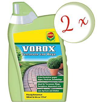 Sparset: 2 x COMPO Vorox® Terrasser og stier, 500 ml
