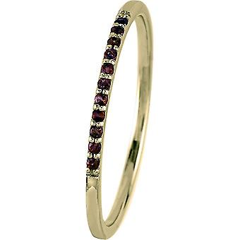 Jacques Lemans - Gold-plated silver ring with garnet - SE-R125G56 - RW: 56