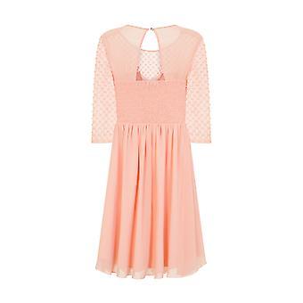 Küçük Hanım Bayan/Bayan Süslenmiş İnci Midi Balo Elbisesi