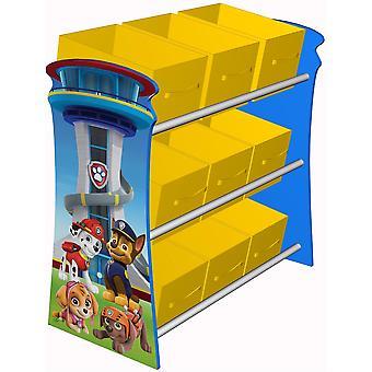 Kiddi Style Paw Patrol 9 Box Toy Organiser