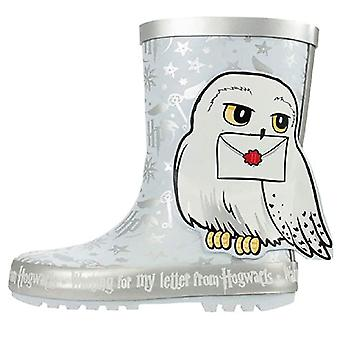 Harry Potter Snow Girls Wellies White UK Sizes Child 8 -2