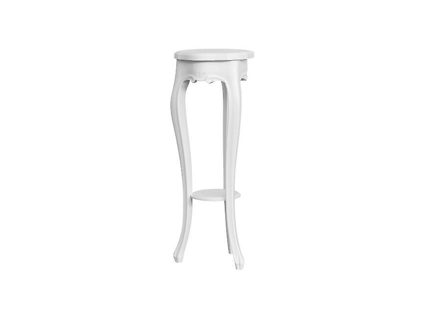 Tavolino Da Caffe' Zeus Colore Bianco in Legno, L25xP25xA75 cm