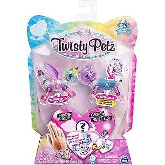 Twisty Petz Series 4 - 3 Pack - Rainbowz Létající jednorožec & Grizzle Bear