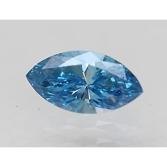 Certified 0.37 Carat Sky Blue VVS2 Marquise Enhanced Natural Diamond 6.75x3.53mm
