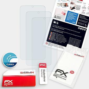 atFoliX 3x Anti Shock Screen Protector compatible with Samsung Galaxy S20 Plus Casefit matt&flexible