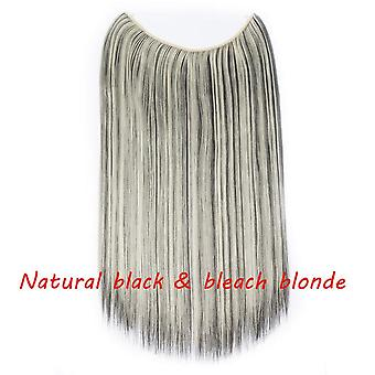20inch Invisible Wire No Clip 1piece Halo Hair Extension - Flip In False Hairpieces