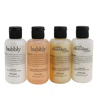 Sweetest Party Favors 4-pieces Git Set: Vanilla Chocolate Cumble (shampoo Shower Gel & Bubble Bath 120ml + Body Loti