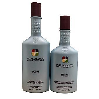 Pureology Super Straight Shampoo 10 oz & Conditioner 8,5 oz Duo