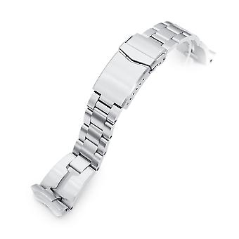 Strapcode watch bracelet 22mm retro razor 316l stainless steel watch bracelet for seiko 6309-7040, brushed v-clasp