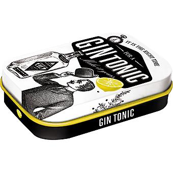 Gin & Tonic Time Nostalgic Sugar Free Mint Tin - Cracker Filler Gift