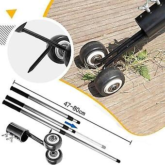 Weeds Snatcher With Wheel - Weed Puller Tool With Long Handle