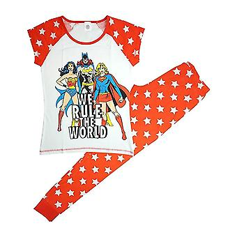 Women's DC Superheroines Rule The World Pyjama Set